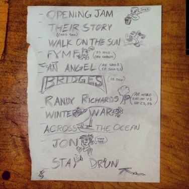 Hotel Hurry Goes Acoustic Set List at Natura Coffee & Tea