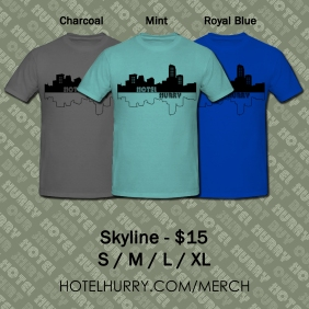 Hotel Hurry Skyline Merch